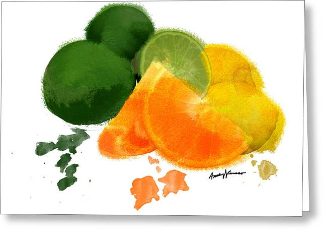 Food Digital Greeting Cards - CitrusFruit Greeting Card by Anthony Caruso