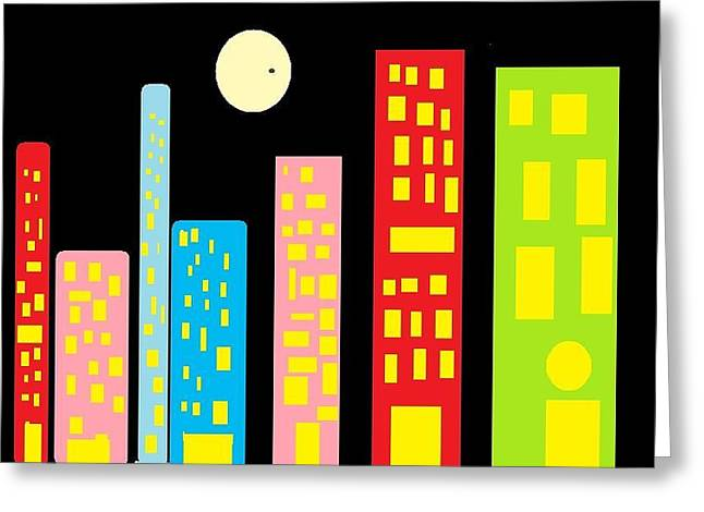 City 23 Greeting Card by Ronald Weatherford
