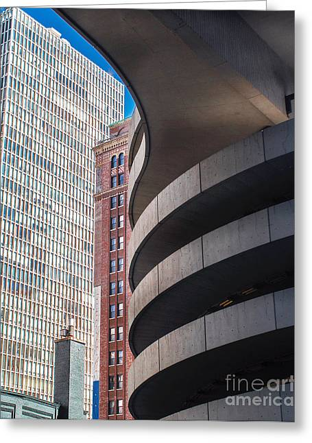 Magnificent Mile Greeting Cards - City Abstract Greeting Card by Arlene Carmel
