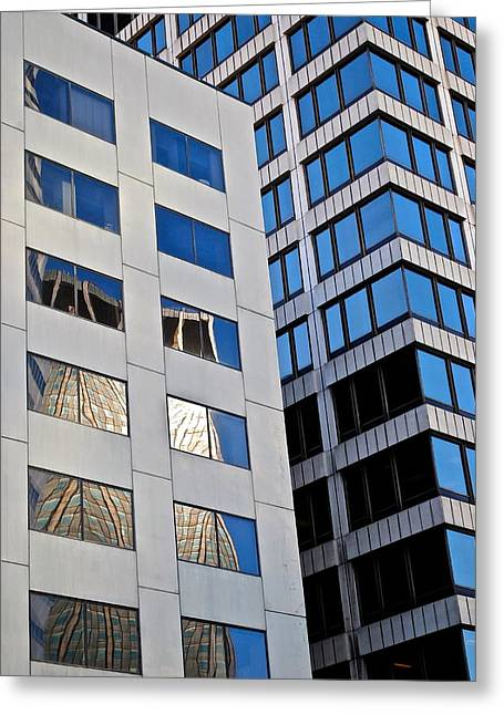 Warp Greeting Cards - City Abstract Greeting Card by Frozen in Time Fine Art Photography