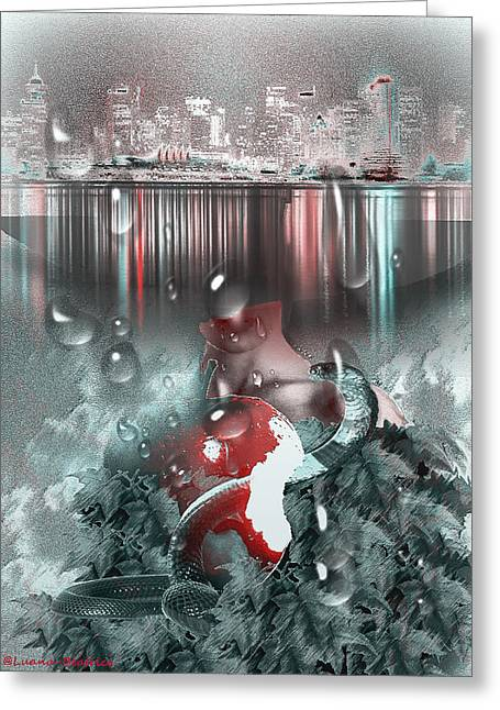 Eviction Greeting Cards - City and paradise Greeting Card by Luana-Beatrice Lazar