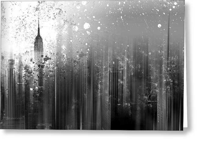 Colorspot Greeting Cards - City-Art NY Manhattan Greeting Card by Melanie Viola