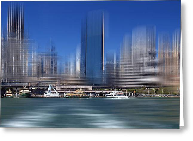 Colorspot Greeting Cards - City-Art SYDNEY Circular Quay Greeting Card by Melanie Viola