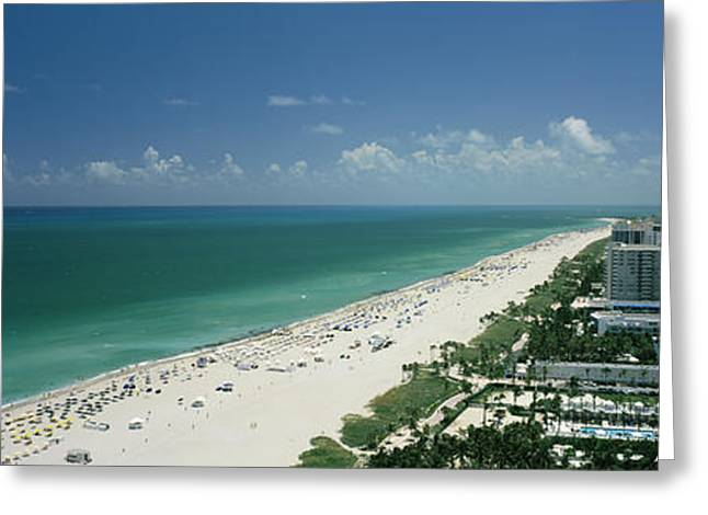 Panoramic Photography Greeting Cards - City At The Beachfront, South Beach Greeting Card by Panoramic Images