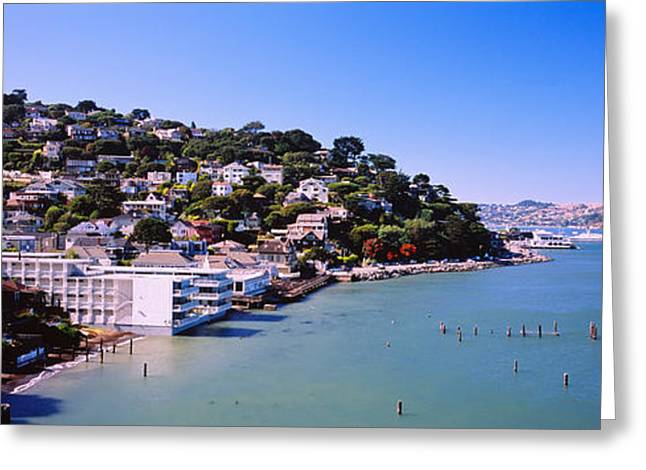 Marin County Greeting Cards - City At The Coast, Sausalito, Marin Greeting Card by Panoramic Images