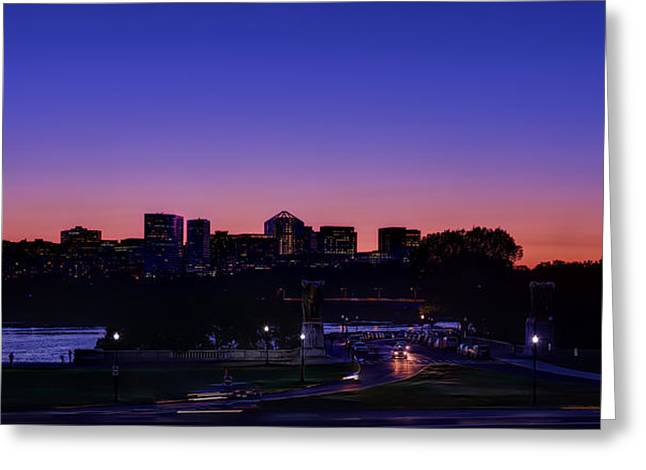 Reflection Photographs Greeting Cards - City At The Edge Of Night Greeting Card by Metro DC Photography