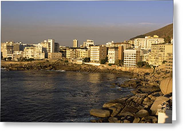Cape Town Greeting Cards - City At The Waterfront, Bantry Bay Greeting Card by Panoramic Images