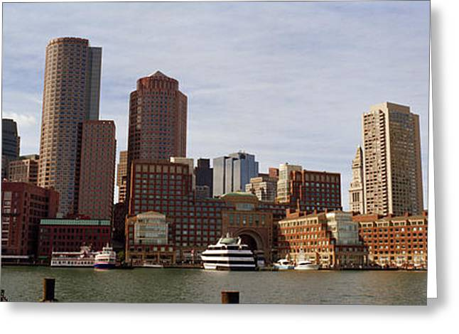 Fan Pier Greeting Cards - City At The Waterfront, Fan Pier Greeting Card by Panoramic Images