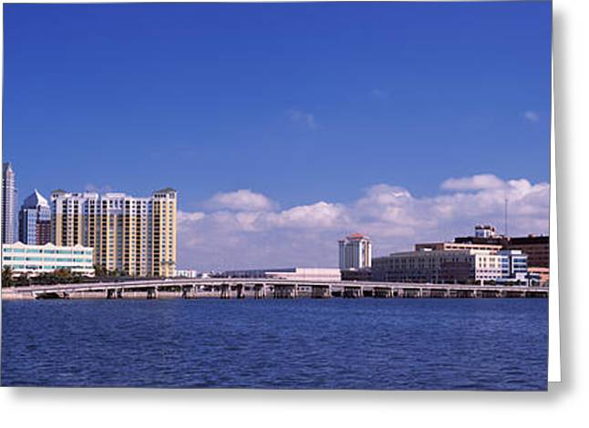 Downtown District Greeting Cards - City At The Waterfront, Hillsborough Greeting Card by Panoramic Images