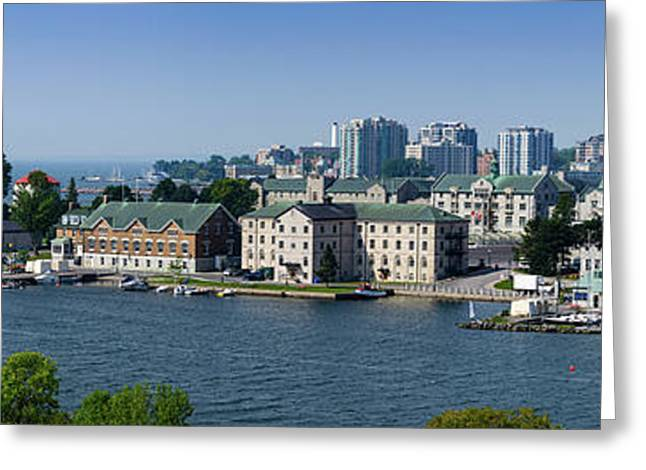 City At The Waterfront, Kingston Greeting Card by Panoramic Images