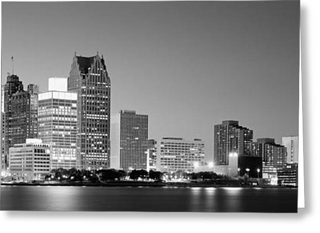 Lake Erie Photographs Greeting Cards - City At The Waterfront, Lake Erie Greeting Card by Panoramic Images