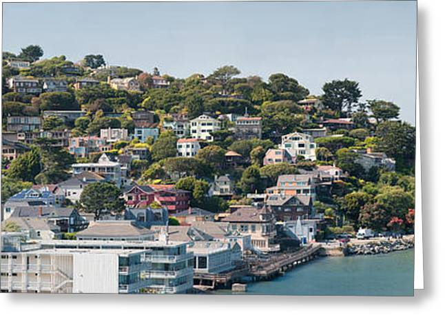 Marin County Greeting Cards - City At The Waterfront, Sausalito Greeting Card by Panoramic Images