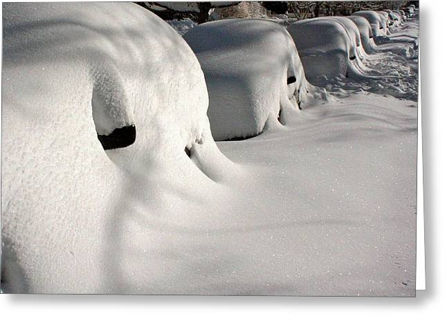Snowmageddon Greeting Cards - City Blizzard Greeting Card by Stuart Litoff