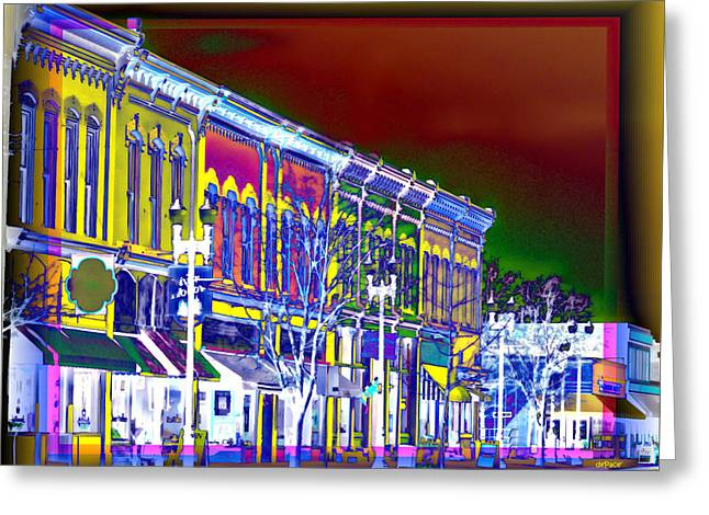 Student Housing Greeting Cards - City Block Greeting Card by KJ DePace
