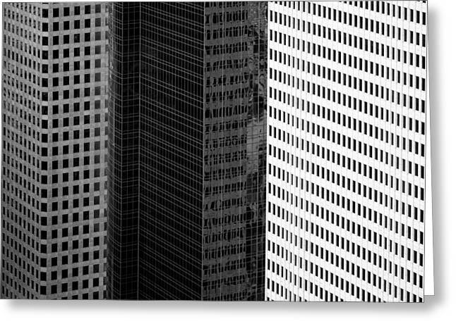 Side By Side Greeting Cards - City Blocks Greeting Card by Dave Bowman