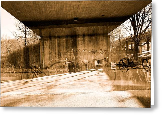 Driving Life Greeting Cards - City Bridge Greeting Card by Toppart Sweden