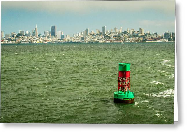 Oakland Neighborhood Greeting Cards - City By The Bay Greeting Card by Ken Kobe