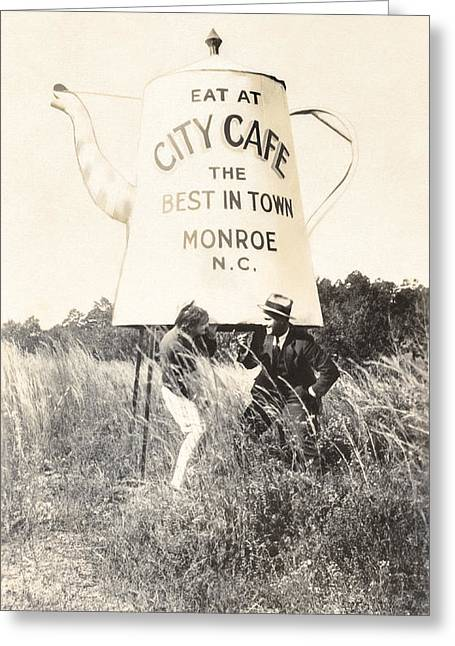 Period Clothing Greeting Cards - City Cafe - Best in Town - Monroe North Carolina Greeting Card by Mark Tisdale