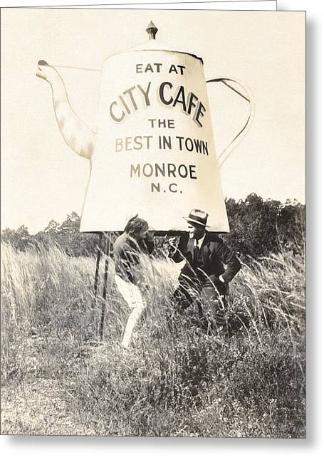 City Cafe - Best In Town - Monroe North Carolina Greeting Card by Mark E Tisdale