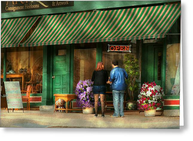 Canandaigua Greeting Cards - City - Canandaigua NY - Buyers delight Greeting Card by Mike Savad