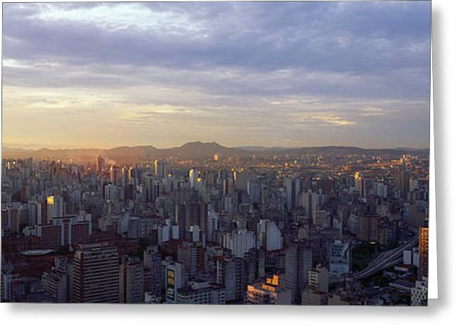 Sao Greeting Cards - City Center, Buildings, City Scene, Sao Greeting Card by Panoramic Images