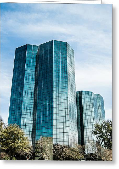 Center City Greeting Cards - City Center Towers In Dallas Greeting Card by Parker Cunningham