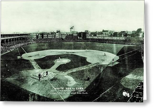 Cubs Baseball Park Greeting Cards - City Championship 1909 Greeting Card by Benjamin Yeager