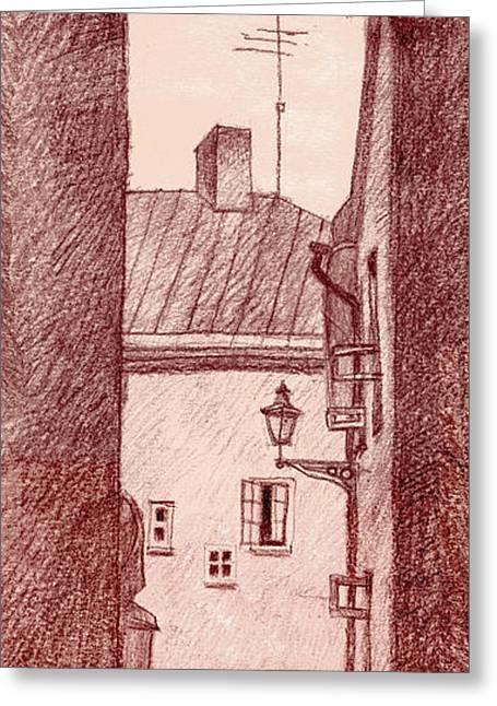 City Corridor A Greeting Card by Serge Yudin