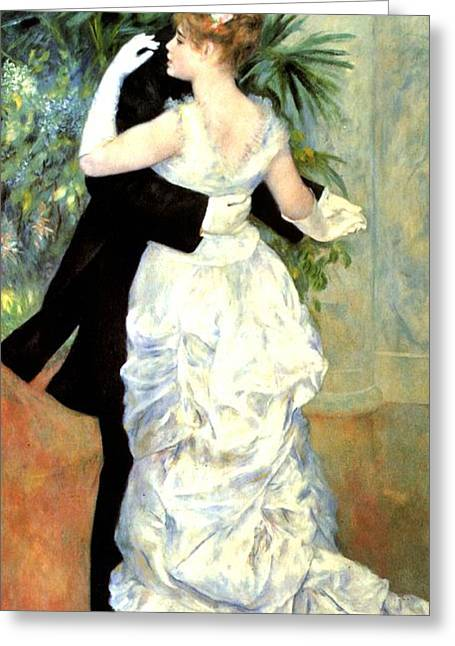 Renoir Greeting Cards - City Dance Greeting Card by Pierre Auguste Renoir