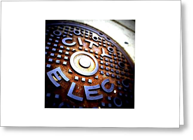 Chicago Circle Greeting Cards - City Elec_06.02.12 Greeting Card by Paul Hasara