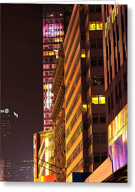 Toy Guitars Greeting Cards - City Glow Greeting Card by Paul Mangold