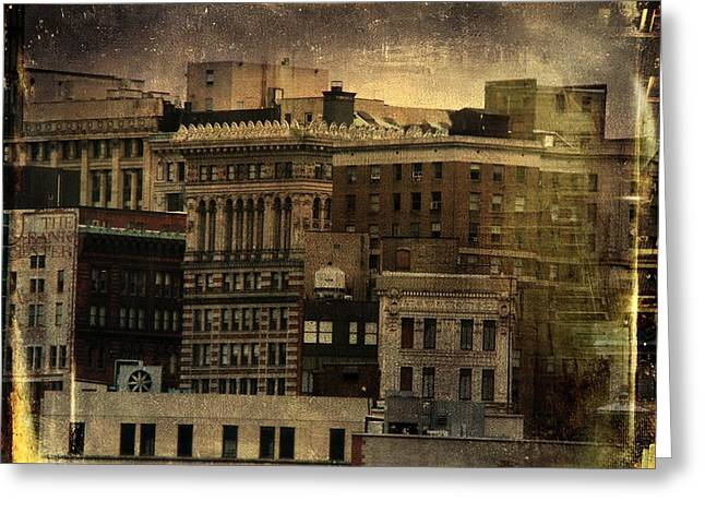 Vintage Style Photograph Greeting Cards - City Greeting Card by Gothicolors Donna Snyder