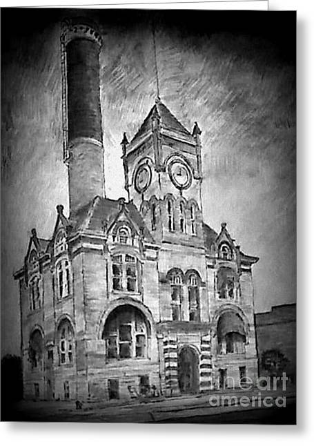Local Mixed Media Greeting Cards - City Hall 2 Greeting Card by Mark Herman