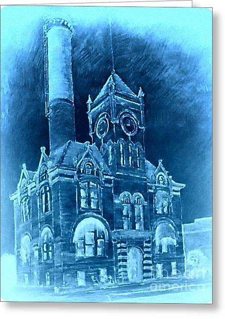 Local Mixed Media Greeting Cards - City Hall 4 Greeting Card by Mark Herman