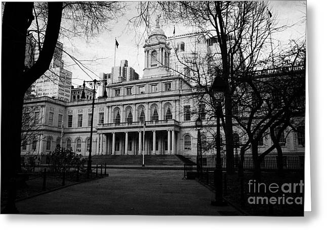 Manhaten Greeting Cards - City Hall in City Hall Park new york city Greeting Card by Joe Fox