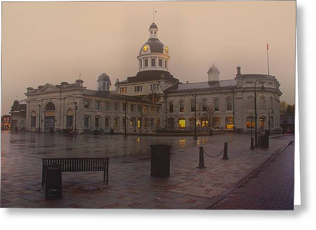 Kingston City Hall Greeting Cards - City Hall Kingston Oct 30 2013 Greeting Card by Jim Vance