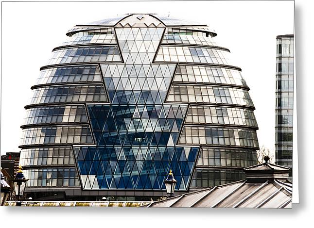 Spiral Staircase Greeting Cards - City Hall London Greeting Card by Christi Kraft
