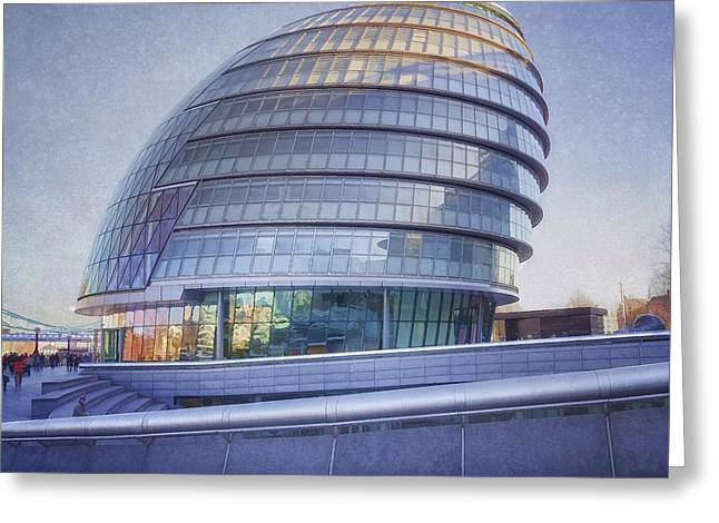 New Britain Greeting Cards - City Hall London Greeting Card by Joan Carroll