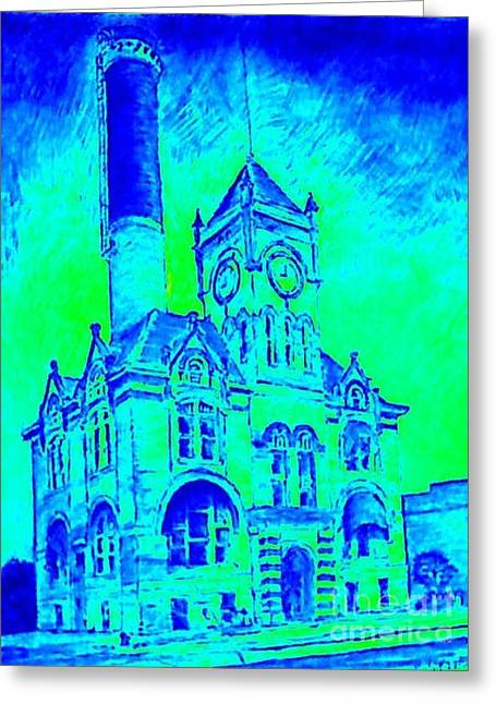 Local Mixed Media Greeting Cards - City Hall Greeting Card by Mark Herman