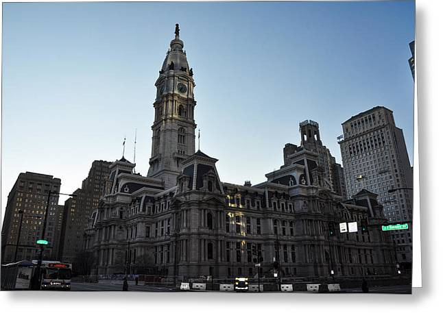 City Hall Digital Art Greeting Cards - City Hall - Philadelphia Pennsylvania Greeting Card by Bill Cannon