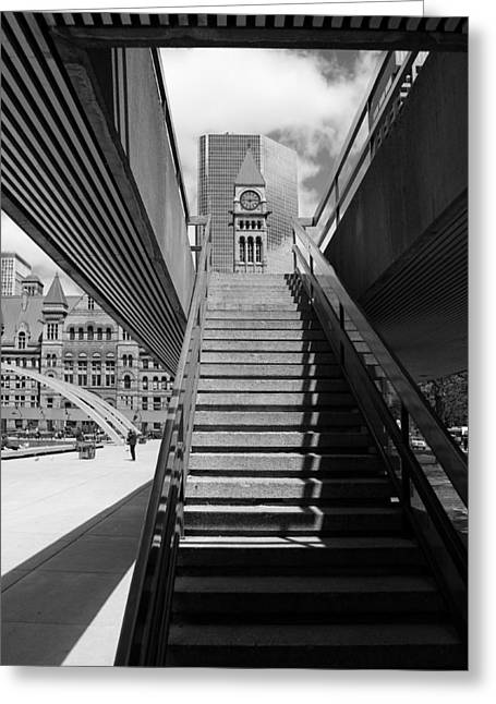 City Hall Steps 2 Greeting Card by Andrew Fare