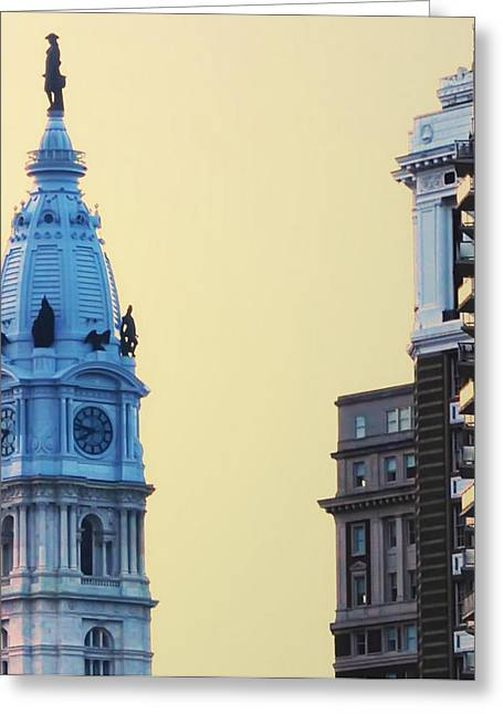 City Hall Digital Art Greeting Cards - City Hall Tower Greeting Card by Bill Cannon