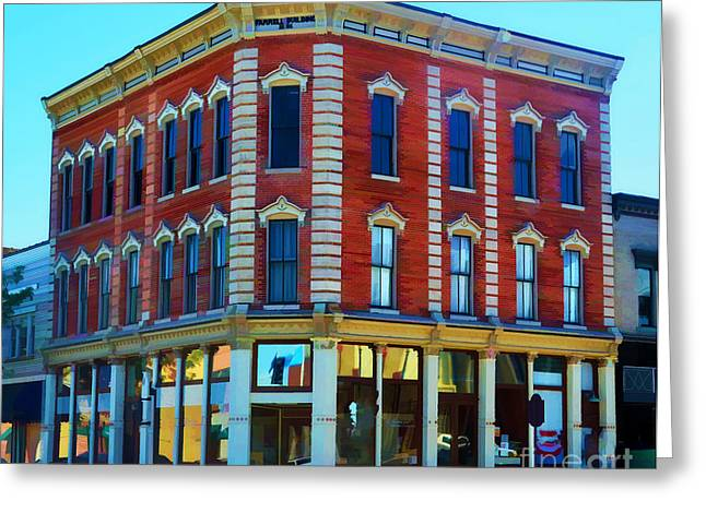 4th July Digital Art Greeting Cards - City - Hannibal Missouri - Mark Twain- Luther Fine Art Greeting Card by Luther   Fine Art