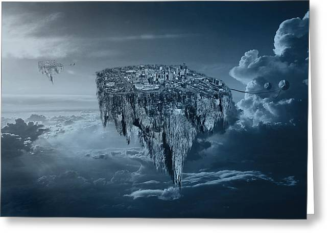 Detroit Pistons Digital Greeting Cards - City in the Sky Greeting Card by Nicholas  Grunas