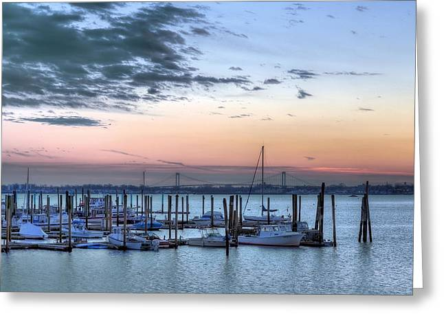 Long Island Sound Greeting Cards - City Island Greeting Card by JC Findley