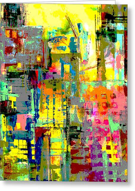 Bold Style Greeting Cards - City Greeting Card by Katie Black
