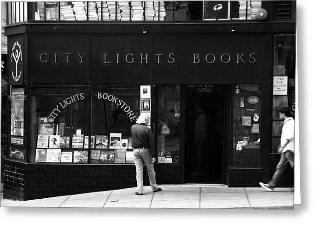Aidan Moran Photography Greeting Cards - City Lights Bookstore - San Francisco Greeting Card by Aidan Moran