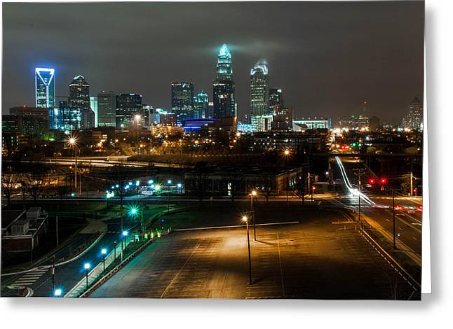 Charlotte Nc Prints Greeting Cards - City lights Greeting Card by Jacob Schipper
