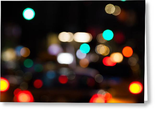 Building Greeting Cards - City Lights  Greeting Card by John Farnan