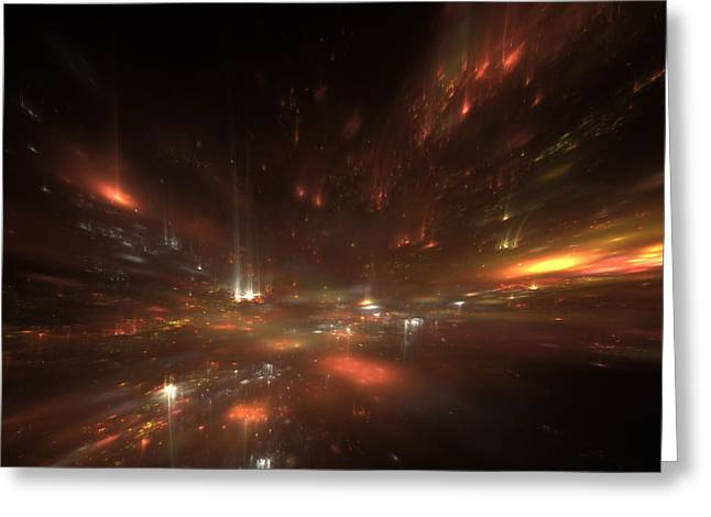 City Lights Digital Art Greeting Cards - City Lights Greeting Card by Stefan Kuhn